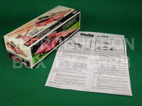 Dinky #354 Pink Panther Car - Reproduction Box